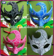 Halloween Masquerade Mask PVC Venice terrorist crack half face crack mask 35g