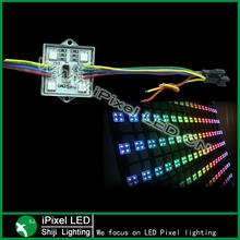 madrix control 4 leds pixel DMX led module square metal case