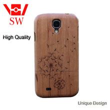 laser carved walnut wood mobile phone case mobile phone cover