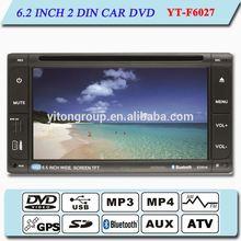 YT-F6027 2014 new hot 6.2 inch digital screen universal 2 din car dvd gps