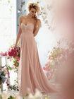 Sexy crystal beaded chiffon pink beach wedding dresses
