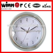9 inch Plastic round basic dome white wall clock