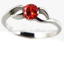 fashion natural ruby gemstone spiritual engagement couple rings
