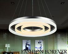 Moden Acryl LED pendant light 3 rings DIY Combination decorative hanging pendant