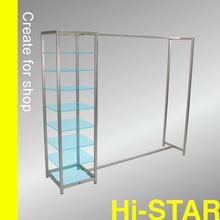 HR4062 manufacture boutique furniture garment shop names display shelf rack