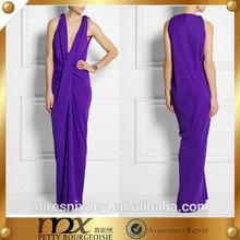 long soft purple chiffon dress