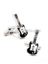guitar shape tie bar/ silver tie clip/ shenzhen manufacture