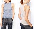 La última moda sexy mujeres blusa transparente