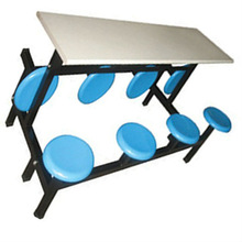 Waterproof Folding Cafeteria Table and Chair/School Dining Table and Chair for Cafeteria Furntiure