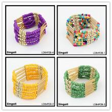 Bohemia style Seedbead tube bead bracelet fashion jewrelry, Lily
