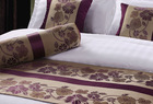 Decorative Hotel King Size Purple Lotus Design Bed Runners For Bedding Set(CWJ13111)