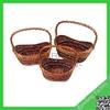 Hot selling wicker hanging fruit basket/wall hanging wicker baskets for sale