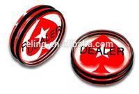 Pro Dealer Button/Casino Grade Poker Dealer Button white nylon chef jacket button
