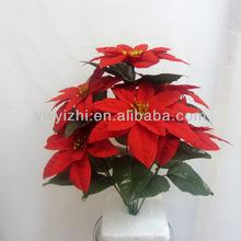 5 Heads Poinsettia Artificial Craft Christmas Flower Decoration Bouquet
