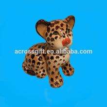 hand painted ceramic leopard