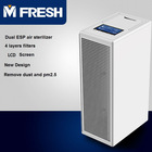 Mfresh Q6 metal HEPA electrostatic precipitators ESP 3-speed 260 sqft VOC air purifier application