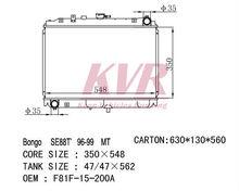 Aluminum Radiator For MAZDA VANETTE MT OEM: F81F-15-200A CORE SIZE: 350*538*26