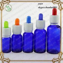 cobalt blue dropper glass bottle for essence oil,eliquid cobalt blue glass bottles
