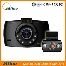 Allwinner A10 chipset ,6pcs infrared lamps 2.7inch LCD display dual HD720P lens car dvr H.264,MOV,video car camera