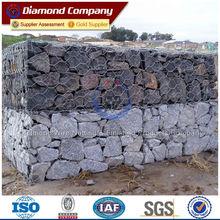 Rock rempli gabion prix de mur / gabion mur de soutènement construction / gabion rock mur de soutènement coût