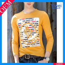 Mens Long Sleeve Soft Cotton Plain Logo Design for Basketball Jersey Tshirt