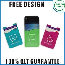 Free design Japan quality standard silicone card holder wallet