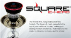 2014 DX tech Square E head along with best quality electric hookah in US
