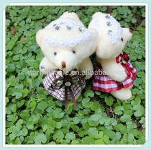 Hot Sale Bear with Clothing Plush Teddy Bear Bouquet, Diamonds bear as gifts