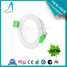 white paining &green clip new type led downlighting , dimmable round & square led downlighting