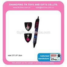 new product promotion item ball pen slide two mini pendant