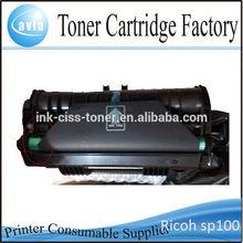 New toner cartridge for Ricoh aficio SP 100 e laser printer