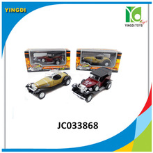 classic car model wholesale die cast vintage car pull back beat up car,JC033868