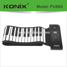 ROLL UP SOFT KEYBOARD PIANO travel FULL SIZE 88 Keys foam SPEAKER BATTERY &