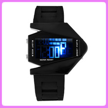 2014 Silicone fighter watches,LED plane shape watch,cheap silicone watches