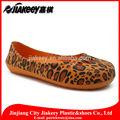 la moda de las señoras casual plana zapatos sexy leopardo impreso pintado para venta al por mayor baratos