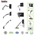 height adjust stand lcd support folding monitor lcd mount clamp bracket stand