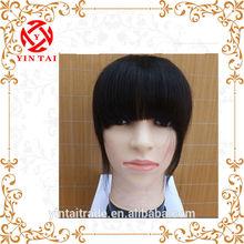 Wholesale hot selling high quality black brown color real human hair head band bang