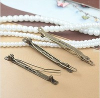 K Iron Clasps Hair Clips Pins With 2 Holes