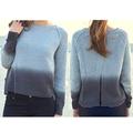 ingrosso abbigliamento invernale lungo manica aperto split indietro grigio Ombre maglione maglia maglione modelli per le signore