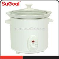 Elegant White Ceramic Inner Pot and White Coating Tinplate Slow Cookers