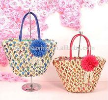Fashion beach bag girl shoulder bag beach straw bag