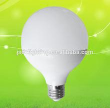 g95 e27 15w led lamp 2700-6500k ra>80 aluminum+plastic material