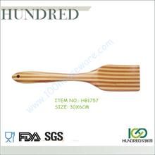 hot sale food safe bamboo stripe utensils , kitchen utensils bamboo stripe turner, high quality thick bamboo stripe utensils
