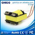 Etd44-02 horizontal tipo de bobinas para transformadores de rádio