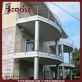 Balcon balustrade d'acier inoxydable design/2736mm rambarde en acier