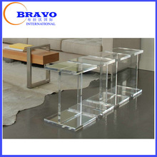 Diamond plexiglass side table