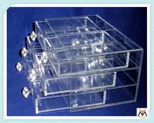 customized acrylic storage drawer,multilayer acrylic box,clear acrylic drawer