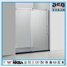 home 8mm toughened glass d shape shower screen in foshan