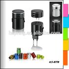 5v 1a 2a universal travel adapter meet UL,CSA,CE,TUV,GS,BS,SAA,PSE,EK,FCC