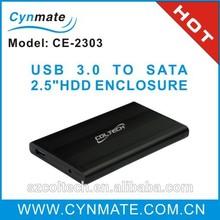 Black USB 3.0 SATA Hard Drive Case 2.5'' HDD Enclosure
